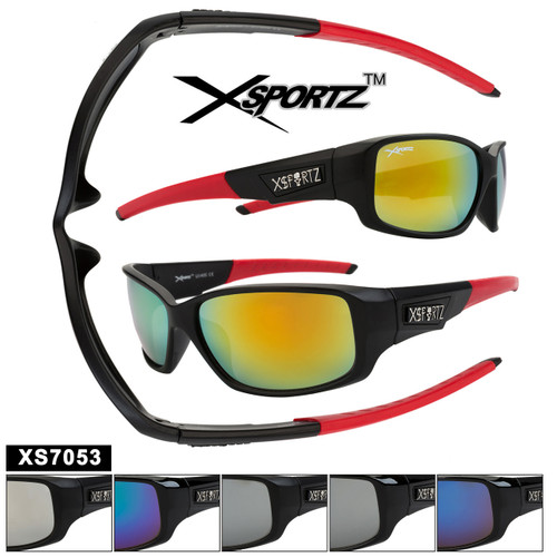 Mirrored Sports Sunglasses in Bulk - Style XS7053
