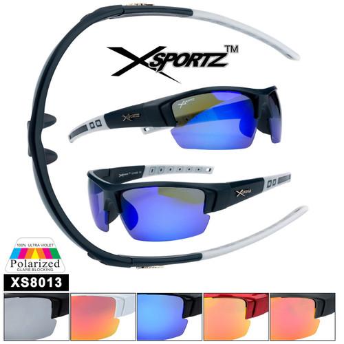 Polarized Xsportz™ Sunglasses Wholesale  - Style XS8013 (Assorted Colors) (12 pcs.)