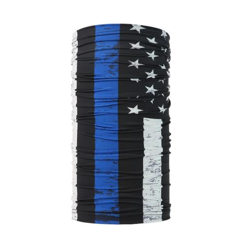 Blue line American Flag Design Face Mask UV Protective (6 pcs.)