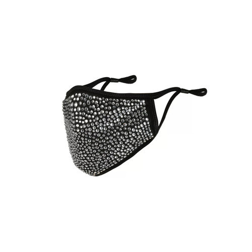 Black Face Mask with Crystal Rhinestone (10pcs)