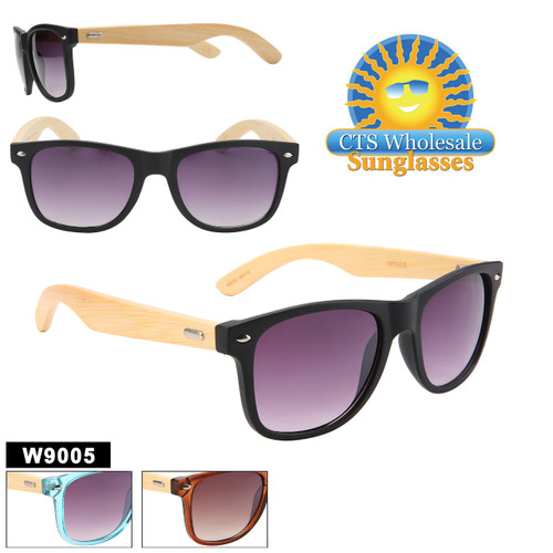 Classic styling Bamboo temples and recycled plastic frames in 3 great colors