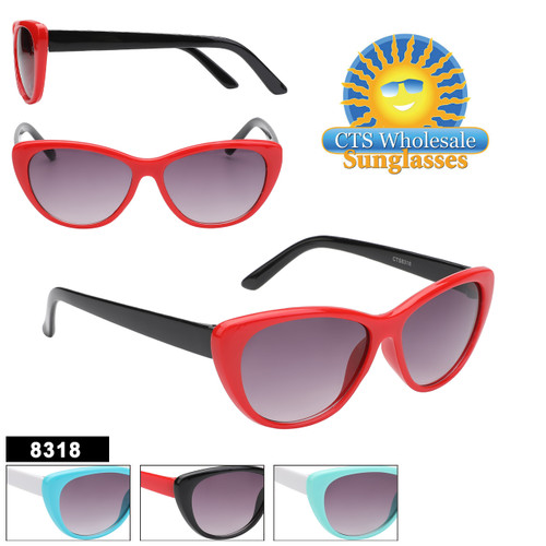 Cute Kids Retro Fashion style sunglasses.  This style comes in 4 color combinations.