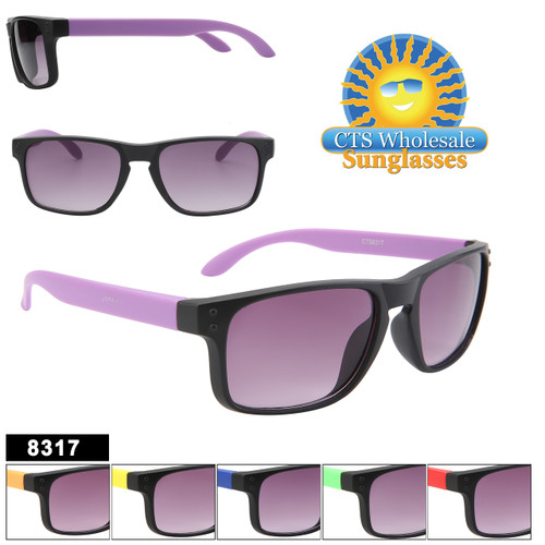 Kids Classics!  Two-tone classic style kids glasses.  This style comes in 6 great color combinations!
