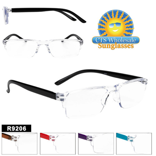 Great Clear Frames Reader with colored temples in 5 Great Colors and a variety of powers to choose from.