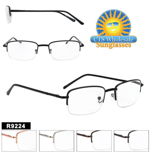 Great Half Metal Frame Reading Glasses style.  This style comes in a variety of lens powers and 5 great selling colors to choose from.