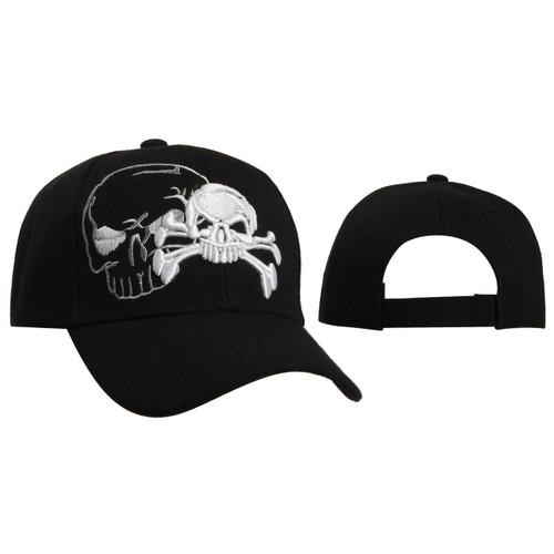 Skull & Crossbones Baseball Cap Black C5209