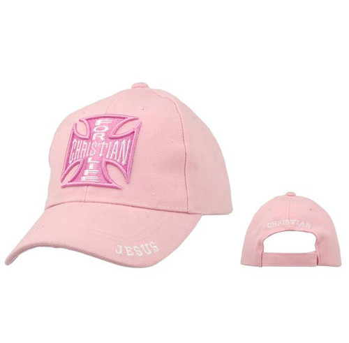 Christian Wholesale Caps C235 ~ Christian For Life ~ Pink