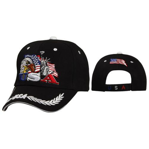 Patriotic Baseball Cap Black