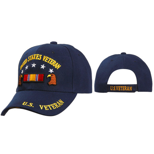 Veterans Caps Wholesale C5173 ~  Navy Blue