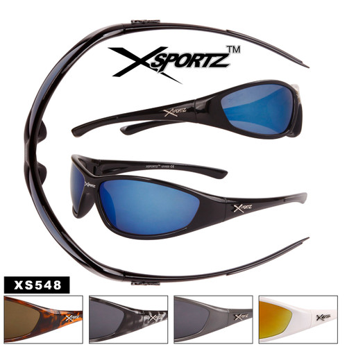 Xsportz Plastic Sports Wholesale Sunglasses - Style #XS548