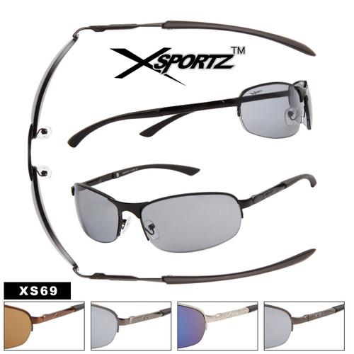 Xsportz Wholesale Sports Sunglasses with Spring Hinge XS69