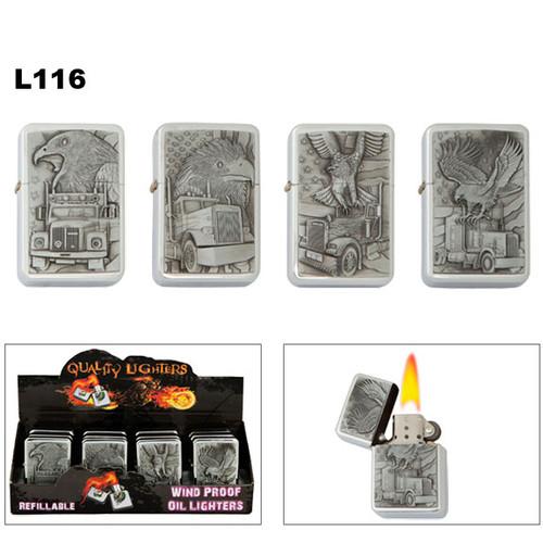 Oil Lighters Wholesale | Assorted Eagles | Trucks