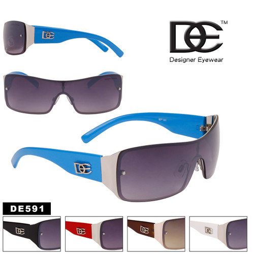 DE™ Designer Eyewear One Piece Lenses Wholesale Sunglasses - Style #DE591