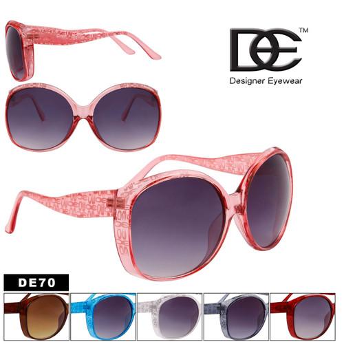 DE™ Designer Eyewear Large Framed Sunglasses Wholesale - Style #DE70