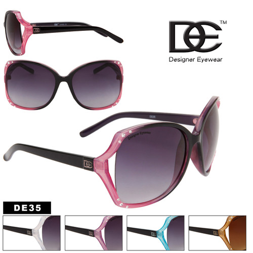 Wholesale Designer Sunglasses by the Dozen - Style # DE35