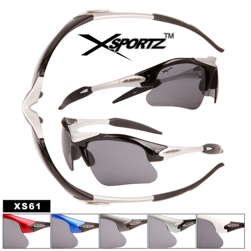Xsportz™ Sport Sunglasses by the Dozen - Style #XS61