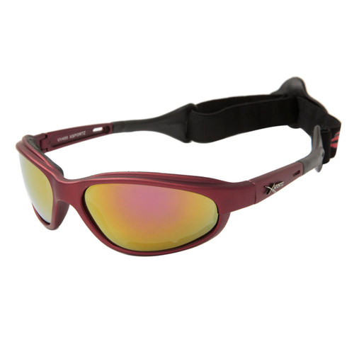 178ca558938 ... Wholesale Motorcycle Sunglasses Foam Padded - XS113 Maroon w Gold Flash  Mirror ...