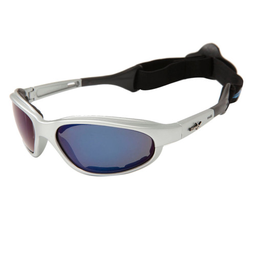 6a948d8dd12 ... Wholesale Motorcycle Sunglasses Foam Padded - XS113 Silver w Blue Flash  Mirror ...