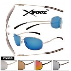 Xsportz™ Square Aviator Style Metal Frame Sunglasses