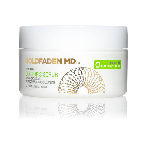 Doctors scrub ruby crystal microderm exfoliator. A daily facial exfoliator that adds hydration & removes dead surface skin revealing brighter, radiant, healthier-looking skin. Buffs & removes dead skin. May improve the appearance of skin color & tone. Works to reduce the appearance of pores & lines.