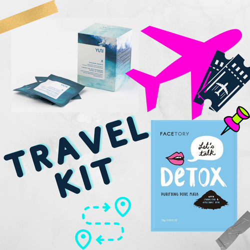 ABOUT THIS PRODUCT:  Summer is here! As parts of the world re-open, RARA CLUB is excited to travel with you! We've combined a sheet mask, shower sheet, and makeup bag for the perfect travel kit to make sure you are fresh from coast to coast!     Bring a first class experience with you everywhere you go with RARA CLUB's Travel Kit.     WHAT'S IN YOUR BAG:  -1 x Sheet mask  -1 x Shower sheet  -1 x bag to store your travel essentials