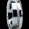 8 mm Meteorite Mens Wedding Bands in Titanium - E118M