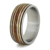 9 mm Unique Mens Wedding Bands Whiskey Barrel Inlay - W165M