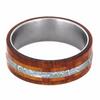 8 mm Meteorite/Cedar/Ironwood Mens Wedding Bands in Titanium - TW215M