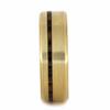 8 mm - 14 kt. Yellow Gold & Bocote Wood Inlay - YG218M