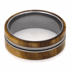 8 mm Mens Wedding Bands - Wood Inlay/Guitar String - GS124M