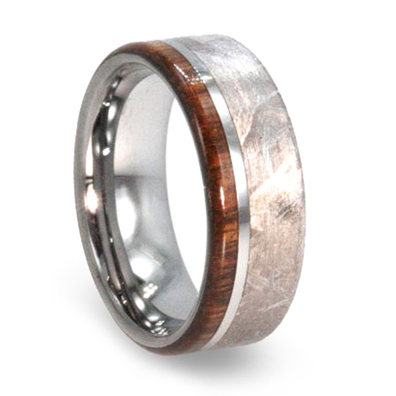 It is just a picture of 44 mm Meteorite/Ironwood Mens Wedding Bands in Tungsten - T44M