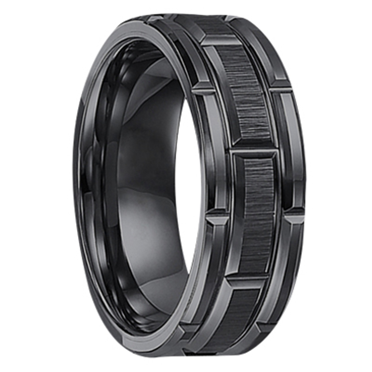 Tungsten Wedding Rings.8 Mm Black Tungsten Wedding Bands U127bc