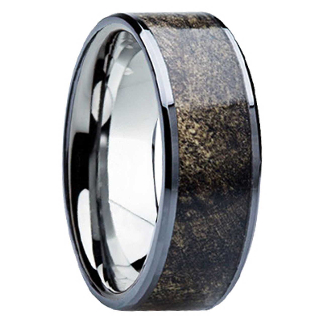 It is just a graphic of 42 mm Unique Mens Wedding Bands - Titanium & Buckeye Wood - B42M