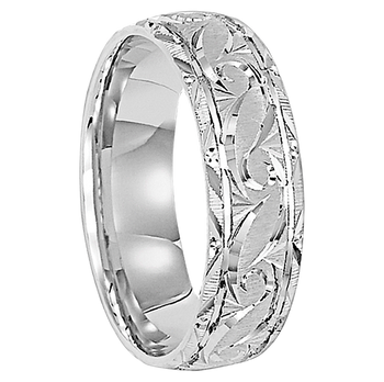 6 mm 14kt. White Gold Handcrafted in U.S. - Sydney