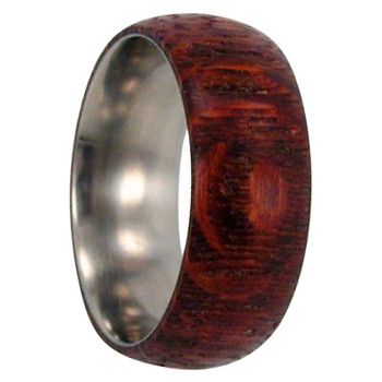 8 mm Titanium with Leopardwood Inlay - L139M