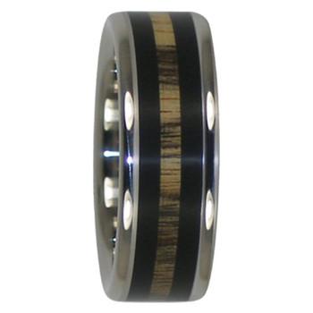 8 mm Blackwood and Exotic Wood Inlay, Titanium - HH111H