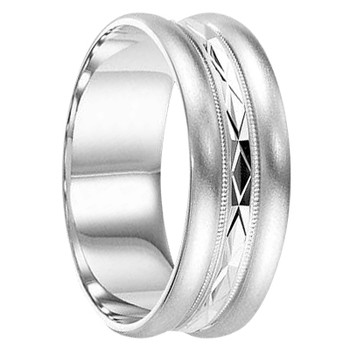 6 mm 14kt. White Gold Handcrafted in U.S. - Omaha-14