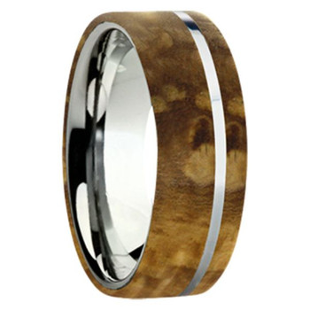 8 mm Exotic Wood in Titanium - K109M-BlackAsh
