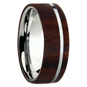 8 mm Exotic Wood in Titanium - K109M-Cocobolo