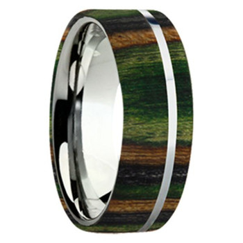 8 mm Exotic Wood in Titanium - K109M-Camo