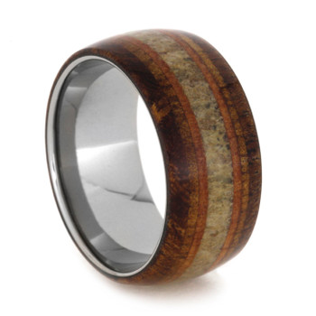 11 mm Titanium with Wood and Elk Antler Inlay - EA895M