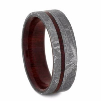 7 mm Meteorite with Bloodwood Sleeve in Titanium - M247M