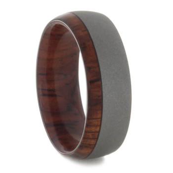 7 mm Honduran Rosewood Sleeve and Sandblasted Titanium - HR845M