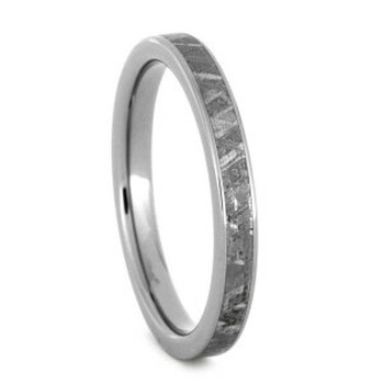 3 mm Meteorite Wedding Band in Titanium - W014M