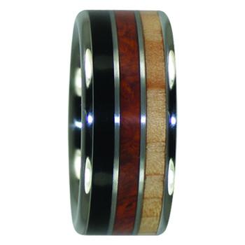 10 mm Unique Titanium in Black Ebony, KOA & Hemlock - BWK128H