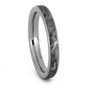 3 mm Meteorite Wedding Band in Titanium - W020M