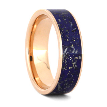 6 mm 14 Kt Rose Gold and Meteorite - SD536M