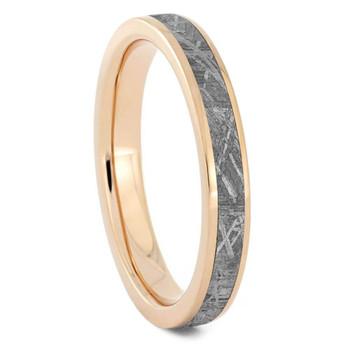 3 mm Meteorite Wedding Band in 14 Kt. Rose Gold - RG014M