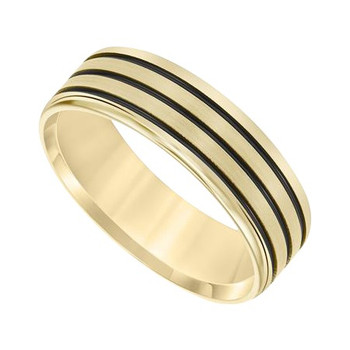 7 mm 14k Yellow Gold Handcrafted in U.S. - Black Scorpion