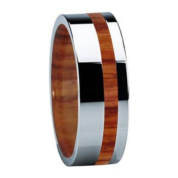 8 mm Titanium Band with Tulip Wood & Sleeve - B122M-Tulip-Sleeve